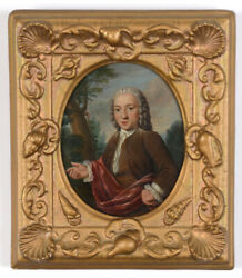 Tibout Regters 1710-1768 Young Gentleman In Park Landscape Large Oil/copper