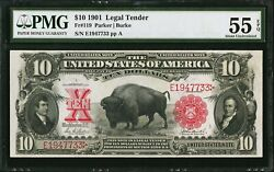 $10 1901 LEGAL TENDER NOTE ~ BUFFALO ~ PMG 55 EPQ ~ LOOKS PERFECT GEM!