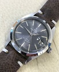 Vintage 1959 Tudor Oyster 7966 Stainless Steel 34mm Grey Dial Men's Watch