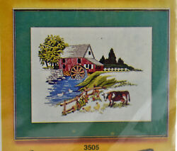 Grist Mill Landscape Crewel Kit 3505 By Artcraft Concepts - New Sealed Package