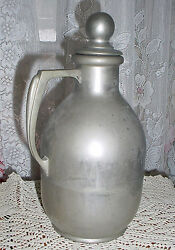 Antique Thermos Liquid Holder Appears Made Of Chrome W/ Orig. Top June 20, 1911