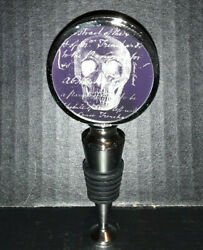 Halloween Skull Bottle Stopper / Topper Boxed By Cypress Home 3ws4824a
