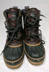 Totes Thermolite Womens Boots Size 3 Brown Duck Boots Weather Protector $22.99