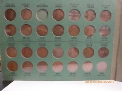 1909-1964 Lincoln Head Cent Collection Set Of Wheat Pennies Missing Svdb