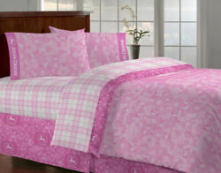 John Deere Bedding For Girls Pink Camo Bed Skirt, Twin, Full Or Queen Size