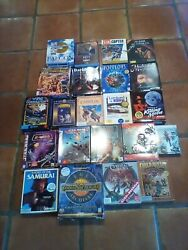 Lot 28 Pc Games Dos And Windows Cd-rom And Or Floppy Disks Also 1 Pc Dvd
