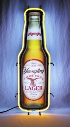New Yuengling Lager Bottle Beer Bar Party Man Cave Neon Light Sign 17x10