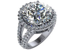 11.11 round GIA K SI1 round natural diamond halo engagement ring platinum size 5