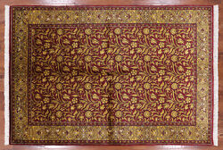 6and039 1 X 9and039 1 William Morris Hand Knotted Wool Area Rug - H7663