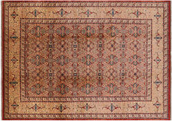 8and039 3 X 11and039 4 Peshawar Hand Knotted Area Rug - W2559