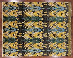 8and039 0 X 10and039 0 Ikat Hand Knotted Wool Rug - P5524