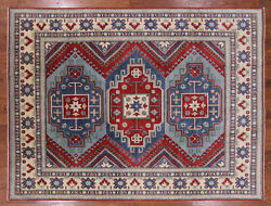 8and039 1 X 10and039 10 Hand Knotted Kazak Wool Rug - P5632