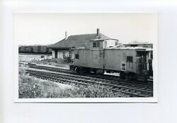 Waterville Me Maine Rppc Real Photo, Caboose, Railroad Cars, Tracks, 1976