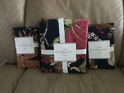 New Pottery Barn Laina Palampore Queen Duvet And 2 Standard Shams