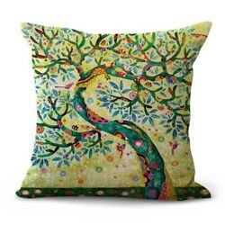 tree of life cushion cover couch decorative pillow case