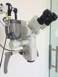 WALL MOUNT ENT Microscope 5 STEP 90 ° Fixed Binocular HD Camera with Led Light