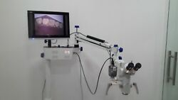 WALL MOUNT DENTAL MICROSCOPE 5-Step with Led Light Source
