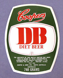 Cooper And Sons Ltd Coopers Db Beer Label So.australia 740 Grams