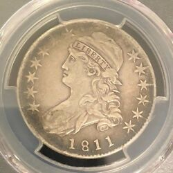 1811/10 Capped Bust 50c Pcgs Xf40 Punctuated Date Variety