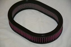 12 X 2 Oval Washable Reusable Air Cleaner Element Filter Chevy Gm Ford Mopar