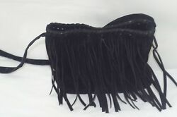 Place est 1989 Festival Shoulder crossbody Girls Black Fringes HandBag $10.00