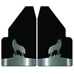Universal Mud Flaps 14 Wide Rear With Wolf Stainless Steel Anchor Weights For F