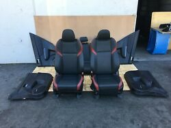 Subaru Wrx Sti 2015-2019 Oem Front And Rear Seats With Door Panels Limited 30k