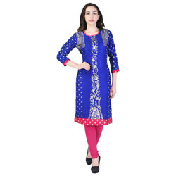 kurti pakistani indian designer kurta ethnic tunic cotton bollywood dress 7027