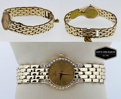 Concord Les Palais 14k Yellow Solid Gold Ladies Diamond Watch Gold Colored Dial