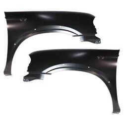 Fits 01-04 Frontier Pickup 2.4l Front Fender Quarter Panel Left And Right Set Pair