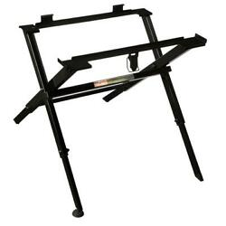 Compact Folding Table Saw Stand Durable Lightweight Portable Adjustable Feet NEW