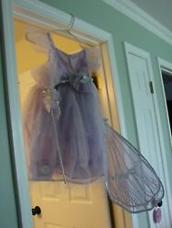POTTERY BARN KIDS CHILDS SIZE 3T FOUR PIECE LIGHT UP LAVENDER FAIRY COSTUME