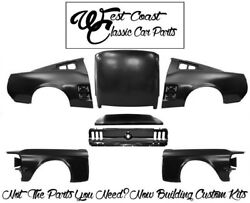 .1967 Mustang Fastback Fenders Roof  Quarters Tail Panel Trunk Lid