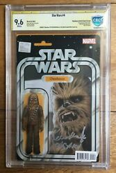 Star Wars 4 Action Figure Variant 1st Sana Solo Signed Peter Mayhew Cbcs Ss 9.6
