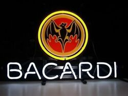 New Bacardi Rum Whisky Beer Neon Light Sign 20x16