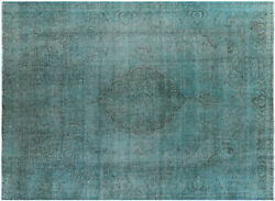 Overdyed Hand Knotted Area Rug 9' 6 X 12' 3 - W2071