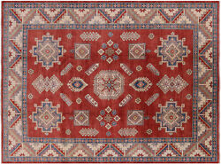 9and039 3 X 12and039 8 Kazak Hand-knotted Wool Rug - H6137