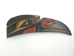 Harry Williams Raven Carving Small Plaque West Coast Native Art Indian Totem