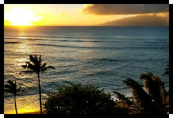 Wall Art Canvas Picture Print - Hawaiian Maui Sunset, Limited Number Printed.