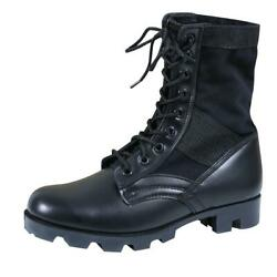 Rothco 5081 Black Leather Military G.I. Style 8quot; Jungle Boots Mens Sizes 8 12 $36.99