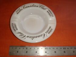 Hiram Walkers Canadian Club Imported Whisky , Porcelain / Glass Ashtray