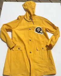 Pittsburgh Steelers 1970s Youth Rain Jacket Coat Vintage Look At The Nfl Buttons