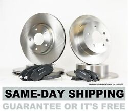 Complete Front And Rear Brake Kit - Set Of 4 Rotors And 8 Premium Pads Bk2568m