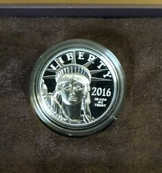 2016 U.s. Mint Platinum American Eagle  One Ounce Proof Coin