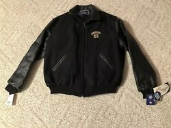 Vtg Holloway New With Tags Notre Dame M Medium Wool Leather Letterman Jacket
