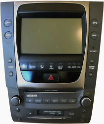 Lexus GS Radio 6 Disk CD Changer W/ Climate Front Console Black OEM 86111-30400