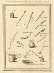 Benin. Weapons, Musical Instruments And Farm Tools. Kingdom Of Whydah Ouidah 1747