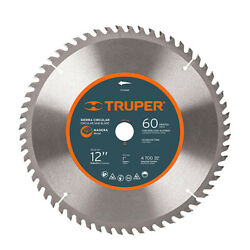 Truper St-1260e Circular Saw For Wood 12 And039 60 Teeth Center 1and039