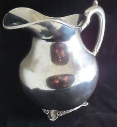 Silver Water Pitcher 850g Marked Liverpool Eagle 2 Sterling .925 Mbr Mexico Df