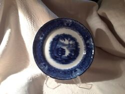 Pw And Co - Podmore Walker Pearl Stoneware Washington Vase Flow Blue Plate 9.75